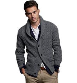 how to wear shawl collar cardigan