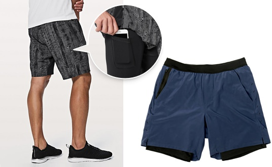 Men's Lined Workout Shorts