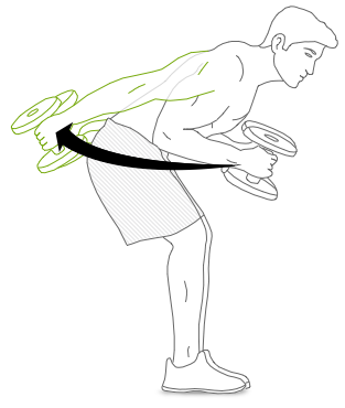 Underhand Kickback Exercise