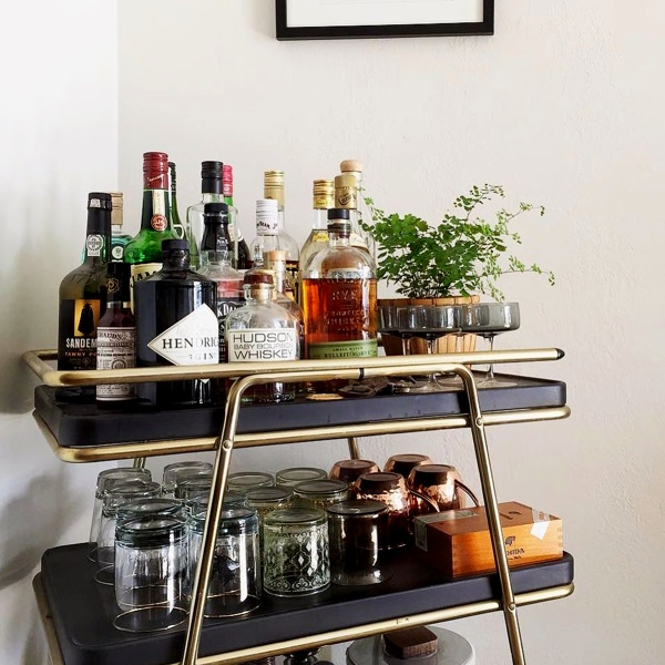 Vintage Bar Cart >> Weekend Project Build Your Bar Cart Valet