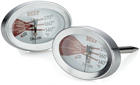 Crate & Barrel Beef Button Thermometers