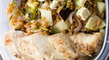Mediterranean Farro Chicken Bowl recipe