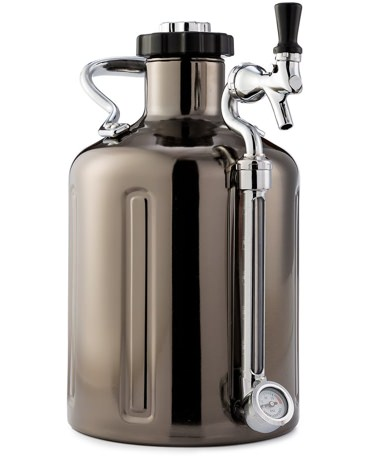 GrowlerWerks Black Chrome Growler Keg