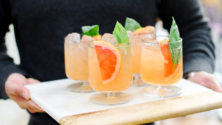 Gin Mezcal Grapefruit Punch