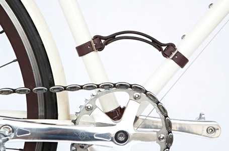 Walnut Studio Leather Bike Carrying Handle