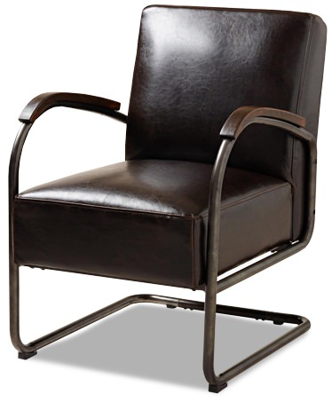 World Market Bi-Cast Leather Rhett Cantilever Chair