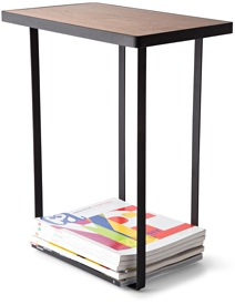Yamazaki Side Table with Magazine Rack