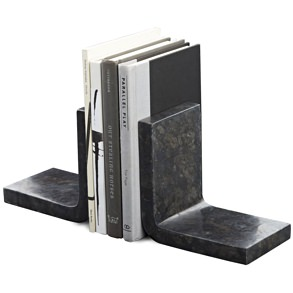 CB2 Marble Bookends