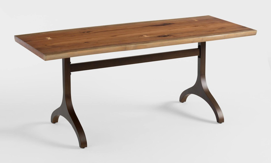Cost Plus World Market Allaster Bronze and Walnut Table