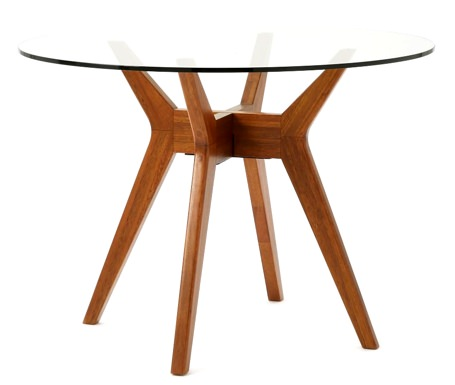 West Elm Jensen Round Glass-Top Table
