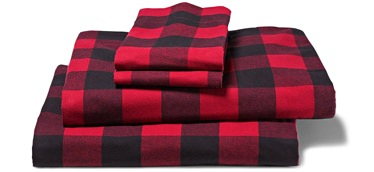Eddie Bauer Buffalo Plaid Flannel Sheets