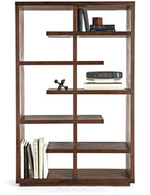 Crate & Barrel Walnut Bookcase