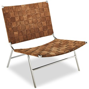 CB2 Woven Suede Chair