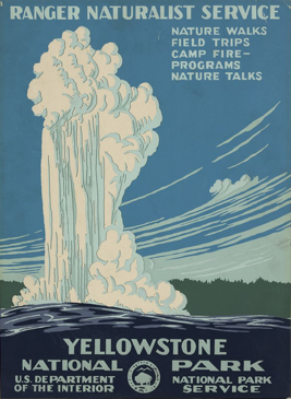 WPA Poster - Visit Yellowstone National Park