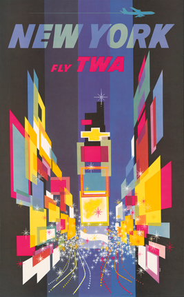 David Klein Poster - Fly TWA to New York