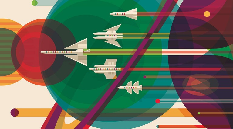 NASA's Brilliantly Retro Space Tourism Posters