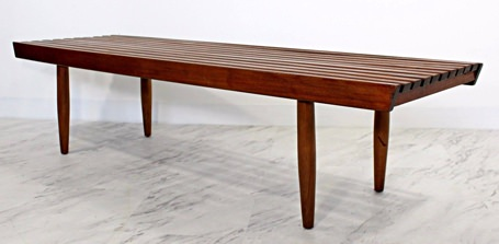 George Nelson Vintage Slat Wood Bench