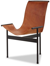 Jayson Home Zaha Iron and Leather Chair