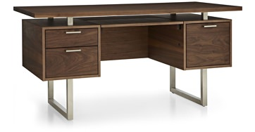 Crate & Barrel Clybourn Walnut Desk