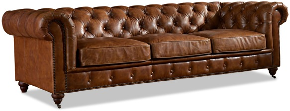 Crafters & Weavers Leather Chesterfield Sofa