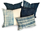 One Fine Nest Indigo-Dyed Accent Pillow