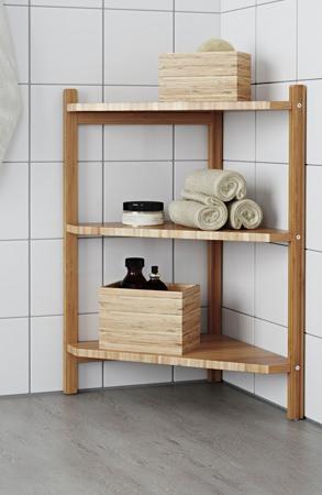 Ikea Bamboo Corner Shelf
