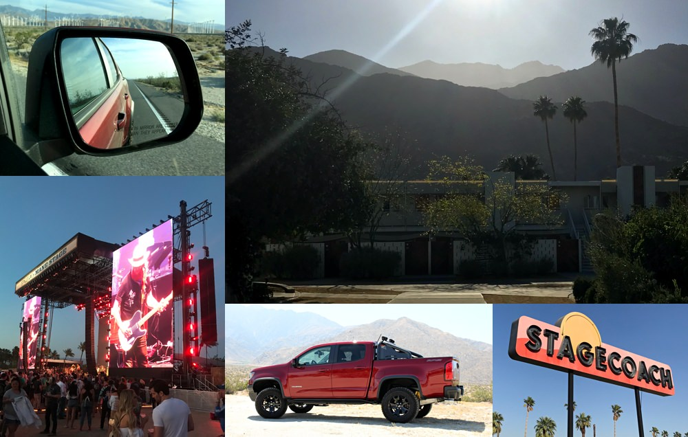 Road tripping with the Chevy Colorado ZR2 to Stagecoach in Palm Springs, California.