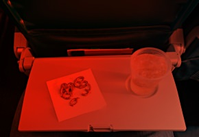 Airplane seat-back tray table