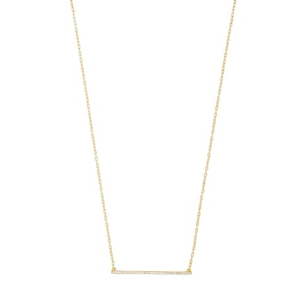 BaubleBar Kimberly Crystal Bar Necklace