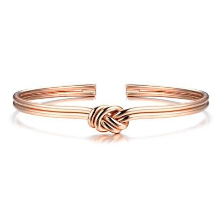 Motif Rose Gold Bonded Bracelet
