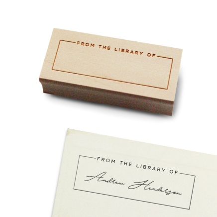 Packagery Personalized Library Stamp
