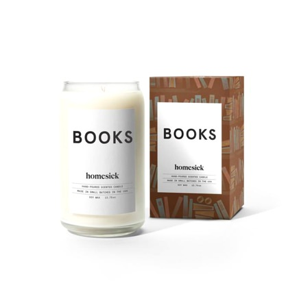 Homesick Books Candle