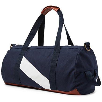 Tracksmith Leather-Trimmed Gym Bag