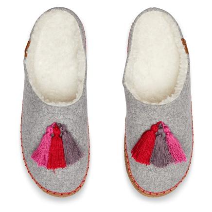 TOMS Wool Tassel Slippers