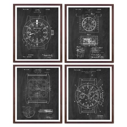 Wunderkammer Studio Watch Patent Prints