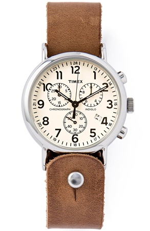 Form-Function-Form Horween Leather Timex Watch