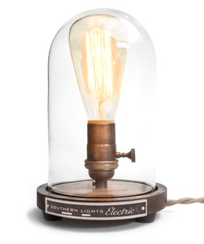 Southern Lights Electric Bell Jar Lamp