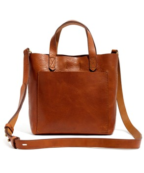 Madewell Leather Crossbody Tote
