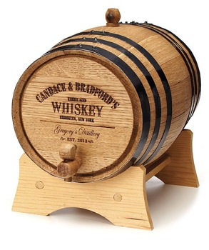 Uncommon Goods Personalized Whiskey Barrel