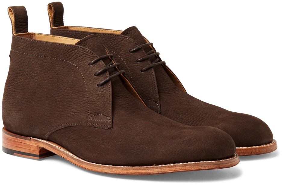 Grenson Full-Grain Nubuck Chukka Boots