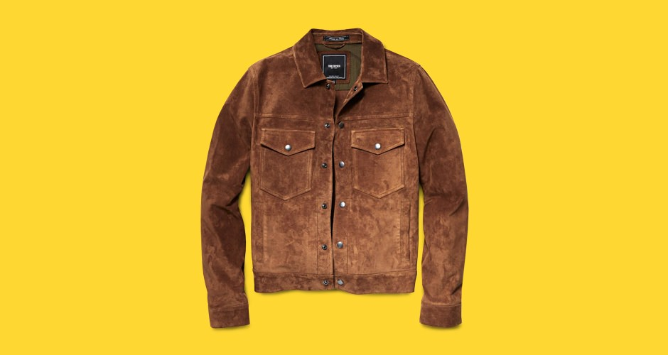 Todd Snyder Snap Dylan Italian Suede Jacket