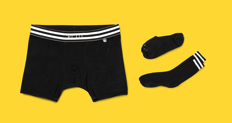Related Garments Racer Socks and Boxer Briefs