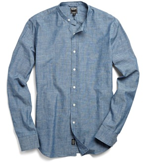 Todd Snyder Band Collar Shirt