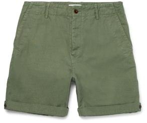 Mr P. Linen-Blend Twill Shorts