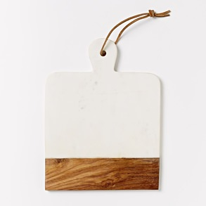 West Elm Marble and Wood Board