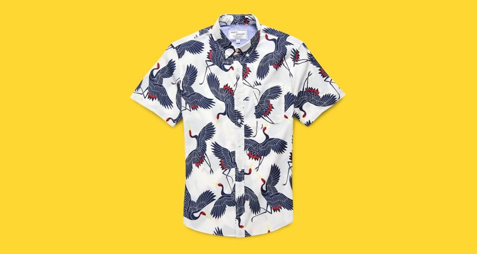 Modern Liberation Crane Print Shirt