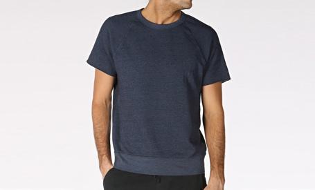 Save Khaki Short-Sleeve Sweatshirt