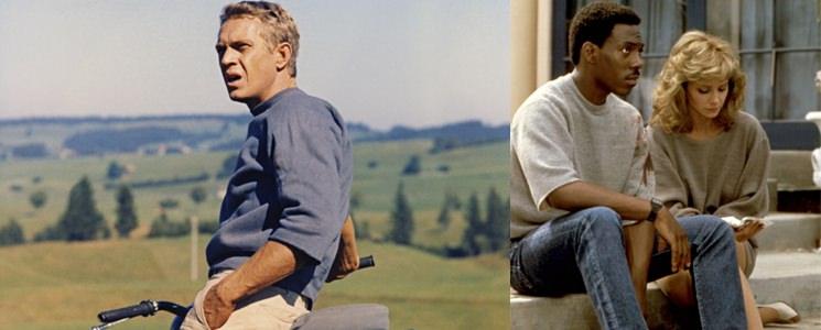 Steve McQueen and Eddie Murphy Wearing Short-Sleeve Sweatshirts