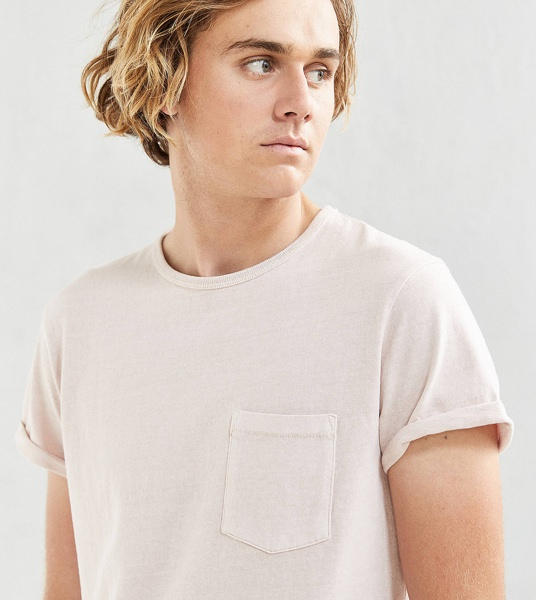 Urban Outfitters Heavy Roll Sleeve Pink T-Shirt