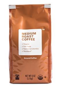 Brandless Organic Fair Trade Medium Roast Ground Coffee